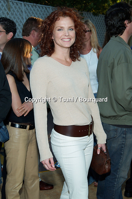 """Dina Meyer arriving at the premiere of """" Austin Powers in Goldmember """" at the Universal Amphitheatre in Los Angeles. July 22, 2002.           -            MeyerDina01.jpg"""