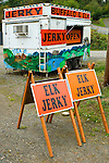 Elk and Buffalo Jerky stand, Olympic Pennisula, Washington State