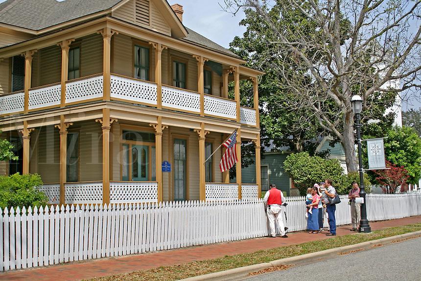 People guided tour Lear Rocheblave House Historic Pensacola Village Pensacola Florida