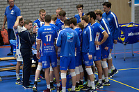 GRONINGEN - Volleybal, Abiant Lycurgus - Dynamo Apeldoorn, Alfa College , Eredivisie , seizoen 2017-2018, 26-11-2017 Lycurgus coach Arjan Taaij   bij time out