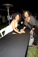May 14, 2010:  Stephanie Mills and fan after she performed at the 'Rhythm on the Vine' charity event to benefit Shriners Children Hospital held at  the South Coast Winery Resort & Spa in Temecula, California..Photo by Nina Prommer/Milestone Photo