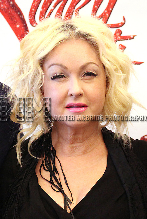 Cyndio Lauper attending the Meet & Greet the Cast & Creative Team of the New Broadway Musical 'Kinky Boots' at the New 42nd Street Studios in New York City on September 14, 2012.