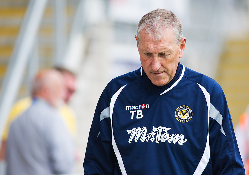 Newport County Manager Terry Butcher before kick-off<br /> <br /> Photographer Kevin Barnes/CameraSport<br /> <br /> Football - Pre Season Friendly - Torquay United v Newport County AFC - Saturday 18th July 2015 - Plainmoor - Torquay<br /> <br /> &copy; CameraSport - 43 Linden Ave. Countesthorpe. Leicester. England. LE8 5PG - Tel: +44 (0) 116 277 4147 - admin@camerasport.com - www.camerasport.com