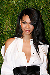 Model Chanel Iman attends the Fifteenth Annual CFDA/Vogue Fashion Fund Awards at the Brooklyn Navy Yard building 28, at 63 Flushing Avenue, on November 5, 2018.