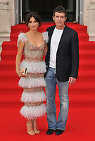 """LONDON, ENGLAND - AUGUST 08: Penélope Cruz and Antonio Banderas at the """"Pain and Glory"""" Film4 Summer Screen opening gala & launch party, Somerset House, The Strand, on Thursday 08 August 2019 in London, England, UK.<br /> CAP/CAN<br /> ©CAN/Capital Pictures"""