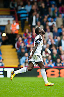 Sun 22 September 2013<br /> <br /> Pictured: Nathan Dyer of Swansea celebrates his 2nd half goal against Palace<br /> <br /> Re: Barclays Premier League Crystal Palace FC  v Swansea City FC  at Selhurst Park, London