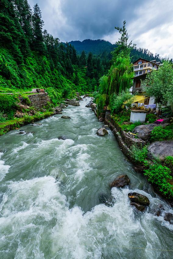 Beas River, Manali, Himachal Pradesh, India.