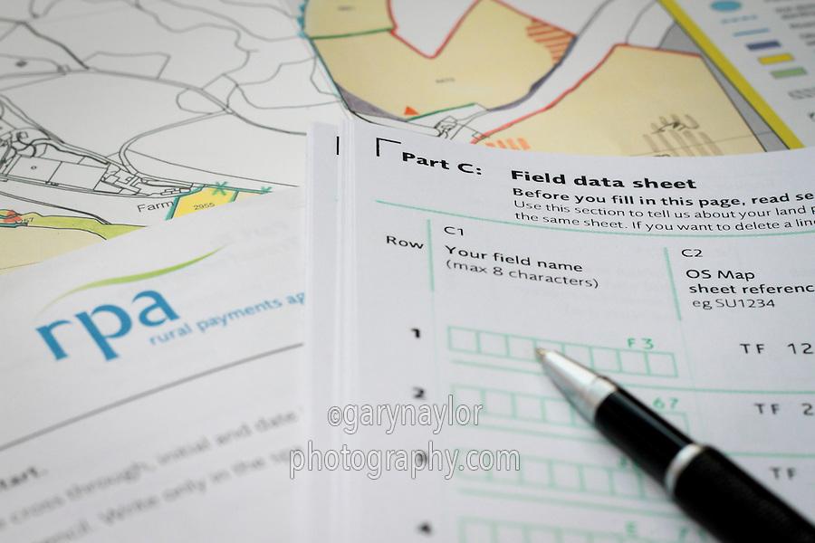 RPA field data sheet