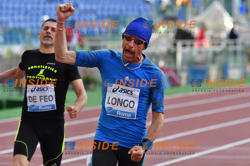 Mario LONGO ITA 100m Master winner <br /> Roma 02-06-2016 Stadio Olimpico <br /> IAAF Diamond League Golden Gala <br /> Atletica Leggera<br /> Foto Andrea Staccioli / Insidefoto