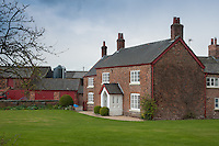 Cheshire red bricked farmhouse.