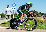 SITTARD, NETHERLANDS - AUGUST 16: Francisco José Ventoso Alberdi of Spain riding for Movistar competes during stage 5 of the Eneco Tour 2013, a 13km individual time trial from Sittard to Geleen, on August 16, 2013 in Sittard, Netherlands. (Photo by Dirk Markgraf/www.265-images.com)