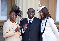 27 October 2016 - London, England - Naomi Campbell with Baroness Valerie Amos after receiving her Member of the Order of the Companion of Honour and Edward Enninful after receiving his Officer of the Order of the British Empire (OBE) at Buckingham Palace in London. Photo Credit: Alpha Press/AdMedia