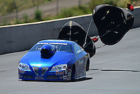 Jul, 22, 2012; Morrison, CO, USA: NHRA pro stock driver Kurt Johnson during the Mile High Nationals at Bandimere Speedway. Mandatory Credit: Mark J. Rebilas-