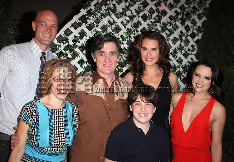 Zachary James, Jackie Hoffman, Roger Rees, Adam Riegler, Brooke Shields & Rachel Potter.attending the After Performance Reception for Brooke Shields debut in 'The Addams Family' at the Empire Hotel Roof in New York City.