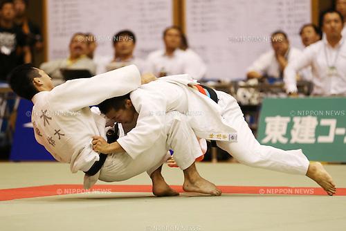 (L-R)<br /> Dai Aoki,<br /> Kohei Hayashi,<br /> September 13, 2014 - Judo : <br /> All Japan Juior Judo Championships <br /> Men's -60kg Final<br /> at Saitama Kenritsu Budokan, Saitama, Japan. <br /> (Photo by Shingo Ito/AFLO SPORT) [1195]