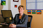 Christine Kelley, Director of Career Development at Claremont Graduate University in her office in Claremont, California, January 5, 2015.