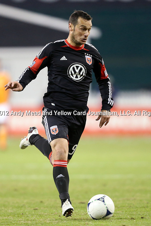 18 November 2012: DC's Hamdi Salihi (ALB). DC United played the Houston Dynamo at RFK Stadium in Washington, DC in the second leg of their 2012 MLS Cup Playoffs Eastern Conference Final series. The game ended in a 1-1 tie, Houston won the series 4-2 on aggregate goals.