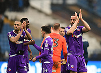 Bolton Wanderers&rsquo; Aaron Wilbraham applauds the fans at the final whistle<br /> <br /> Photographer Chris Vaughan/CameraSport<br /> <br /> The EFL Sky Bet Championship - Sheffield Wednesday v Bolton Wanderers - Saturday 10th March 2018 - Hillsborough - Sheffield<br /> <br /> World Copyright &copy; 2018 CameraSport. All rights reserved. 43 Linden Ave. Countesthorpe. Leicester. England. LE8 5PG - Tel: +44 (0) 116 277 4147 - admin@camerasport.com - www.camerasport.com
