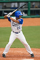 19 August 2007: Designated Hitter #26 Jamel Boutagra is seen at bat during the Japan 4-3 victory over France in the Good Luck Beijing International baseball tournament (olympic test event) at the Wukesong Baseball Field in Beijing, China.