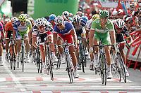 John Degenkolb with the green jersey during the final sprint in the stage of La Vuelta 2012 between Ponteareas and Sanxenxo.August 28,2012. (ALTERPHOTOS/Acero) /NortePhoto.com<br /> <br /> **CREDITO*OBLIGATORIO** <br /> *No*Venta*A*Terceros*<br /> *No*Sale*So*third*<br /> *** No*Se*Permite*Hacer*Archivo**<br /> *No*Sale*So*third*