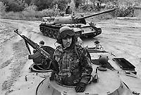 - NATO in Germany; U.S.Army, Foreign Materials Training Detachment (FMTD) at Grafenwoehr training area, T 55 Soviet tank (October 1985)....- NATO in Germania; US Army, Distaccamento di Addestramento sugli Equipaggiamenti Esteri (FMTD) presso il poligono militare di Grafenwoer, carro armato sovietico T 55  (ottobre 1985)