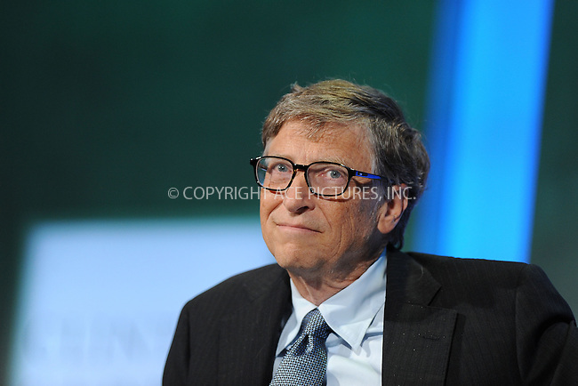 WWW.ACEPIXS.COM<br /> September 24, 2013 New York City<br /> <br /> Bill Gates on stage during the annual Clinton Global Initiative (CGI) meeting on September 24, 2013 in New York City.<br /> <br /> By Line: Kristin Callahan/ACE Pictures<br /> <br /> ACE Pictures, Inc.<br /> tel: 646 769 0430<br /> Email: info@acepixs.com<br /> www.acepixs.com<br /> <br /> Copyright: Kristin Callahan/ACE Pictures