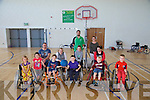 Kerry Kingdom Flyers.  Sports Club for children with physical disabilities on at the  Mitchell's Sports complex every second Saturday from 11am to 1pm. Pictured Ria McCarthy, Ben McCarthy, Chantelle Guerin, Dean McCarthy, Ryan Guerin, Leah Hickey, Ciara Buckley, Saoirse Murphy, Jack Hickey, Nathan Guerin, Tadhg Buckley, Coach, Lisa Hickey, Parent