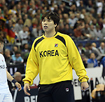 10.01.2019, Mercedes Benz Arena, Berlin, GER, Handball WM 2019, Deutschland vs. Korea, im Bild <br /> PYUN Uibeom (Korea #1)<br /> <br />      <br /> Foto © nordphoto / Engler
