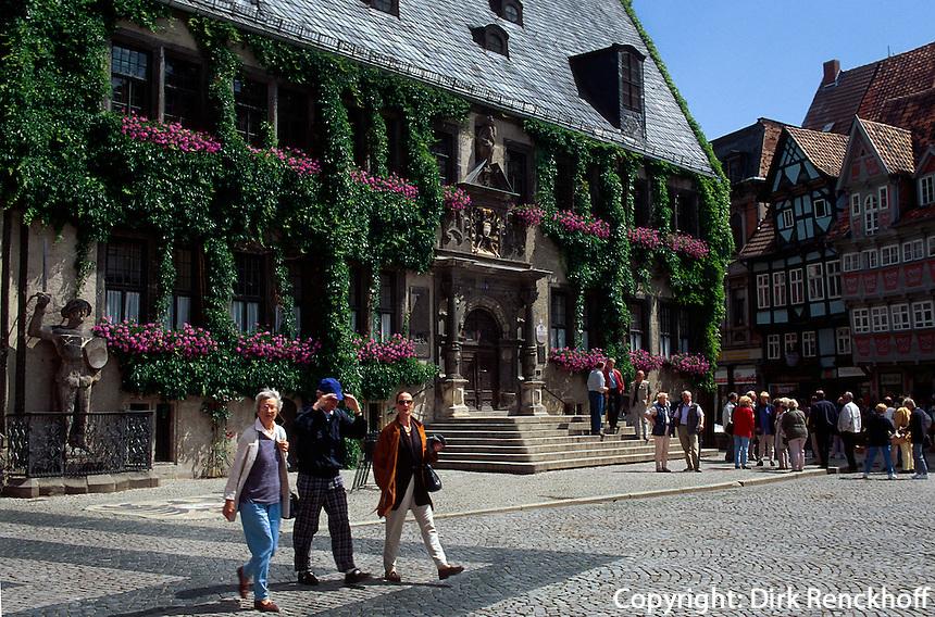 Deutschland, Sachsen-Anhalt, Rathaus in Quedlinburg, Unesco-Weltkulturerbe