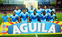 CALI - COLOMBIA -23 - 02 - 2017: Los jugadores de Jaguares F.C., posan para una foto, durante partido America de Cali y Jaguares F.C., por la fecha 5 de la Liga Aguila I 2017 jugado en el estadio Pascual Guerrero de la ciudad de Cali. / The players of Jaguares F.C., pose for a photo, during a match between America de Cali and Jaguares F.C., for the date 5 of the Liga Aguila I 2017 at the Pascual Guerrero stadium in Cali city. Photo: VizzorImage / Nelson Rios / Cont.