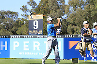 Simon Houston (AUS) on the 9th tee during Round 1 of the ISPS HANDA Perth International at the Lake Karrinyup Country Club on Thursday 23rd October 2014.<br /> Picture:  Thos Caffrey / www.golffile.ie