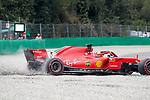 31.08.2018, Autodromo di Monza, Monza, FORMULA 1 GRAN PREMIO HEINEKEN D'ITALIA 2018<br />,im Bild<br />Abflug von Sebastian Vettel (GER#5), Scuderia Ferrari in der Parabolica<br /> <br /> Foto &copy; nordphoto / Bratic