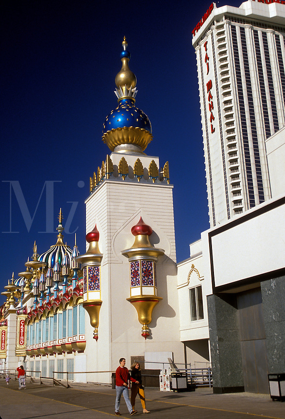 AJ2558, casino, Atlantic City, New Jersey, hotel, Trump Taj Mahal Casino and Resort on the Boardwalk in Atlantic City in the state of New Jersey.