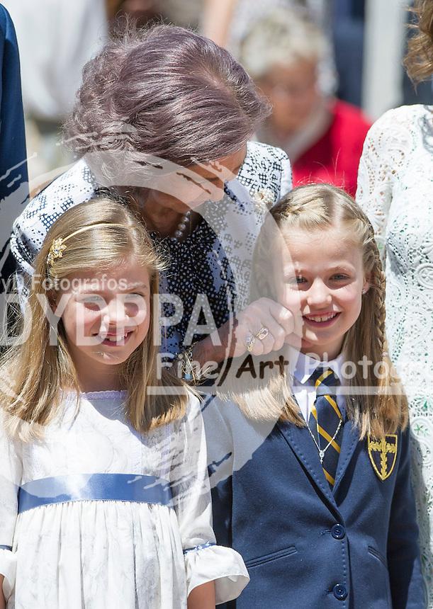 Former Queen Sofia; Princess Leonor; Princess Sofia