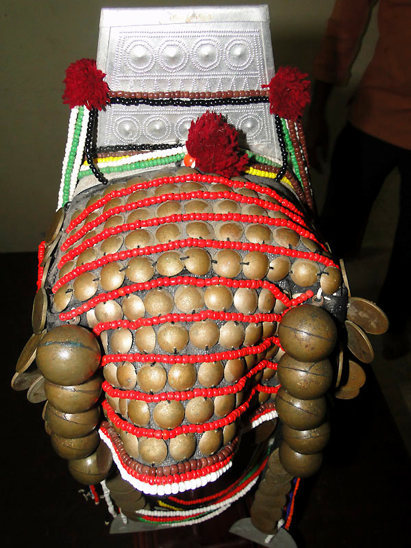 Vintage Akha Headdress, part of the traditional costume of the Akha tribe of the Golden Triangle, Northern Thailand