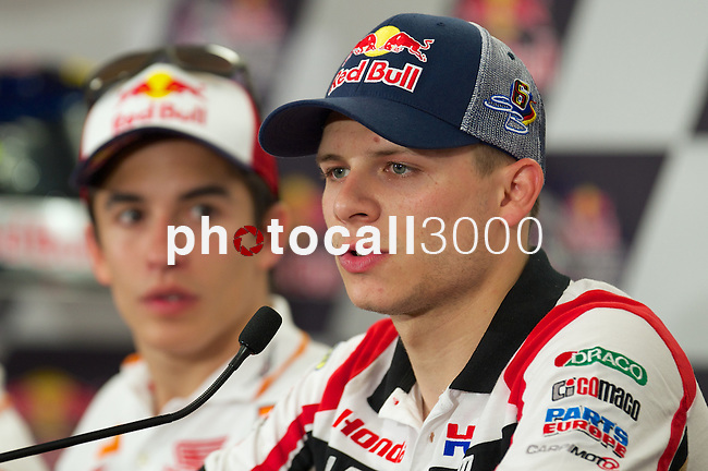 austin. tejas. USA. motociclismo<br /> GP in the circuit of the americas during the championship 2014<br /> 12-04-14<br /> En la imagen :<br /> Press conference<br /> estefan bradl<br /> photocall3000 / rme