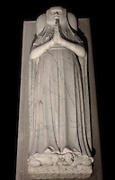 Blanche of France (1328 - 1393), daughter of Charles IV and Jeanne of Evreux, wife of Philip of Orleans (1345), statue gisant, circa 1392, marble, by Jean de Liege and Robert Loisel, restored during the 19th century, Abbey church of Saint Denis, Seine Saint Denis, France. Picture by Manuel Cohen