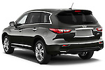 Rear Three Quarter View of a 2013 Infiniti QX35 / JX35