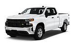 2019 Chevrolet Silverado-1500 WT 4 Door Pick-up Angular Front stock photos of front three quarter view
