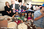 kids dishing ice cream at  elegant  Bat Mitzvah at the 65th floor ballroom of the  Mandarin Oriental Hotel.  ..
