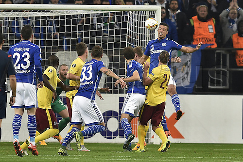 22.10.2015. Gelsenkirchen, Germany. UEFA Europa League football. FC Schalke versus Sparta Prague. Goal scored for 1:0 scorer Franco Di Santo (FC Schalke 04)