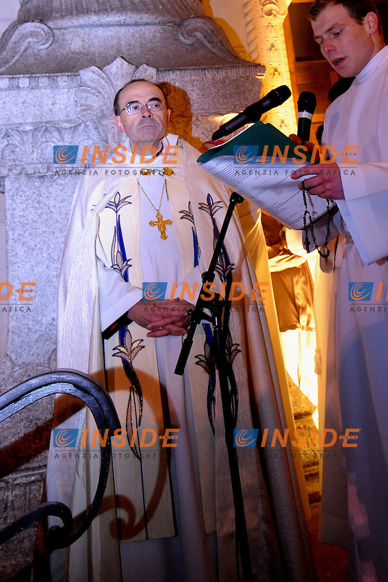 Cardinale Philippe Barbarin<br /> 08-12-2012  Lione <br /> Foto Frederic Chambert / Panoramic / Insidefoto