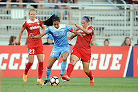 Boyds, MD - Saturday August 26, 2017: Christen Press, Whitney Church during a regular season National Women's Soccer League (NWSL) match between the Washington Spirit and the Chicago Red Stars at Maureen Hendricks Field, Maryland SoccerPlex.