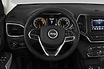 Car pictures of steering wheel view of a 2019 Jeep Cherokee Latitude Plus 4X4 5 Door SUV