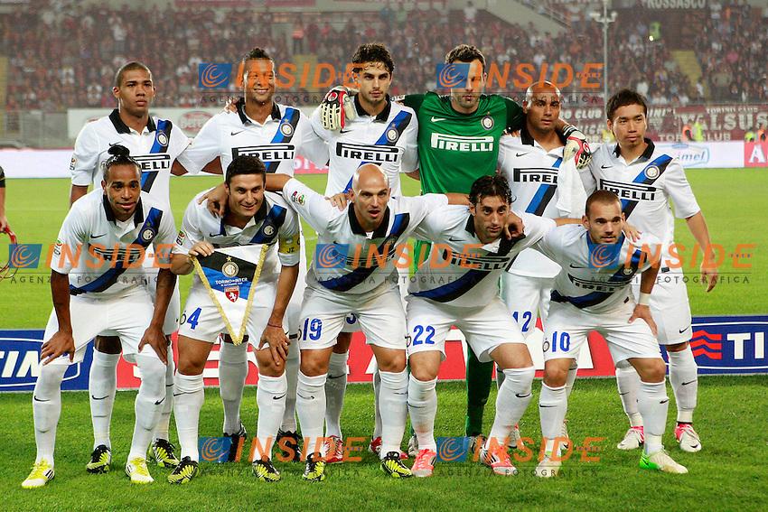 """Formazione Inter..Torino 16/09/2012 Stadio """"Olimpico""""..Football Calcio Serie A 2012/13..Torino v Inter..Foto Insidefoto Paolo Nucci.."""