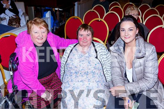 Kathleen and Marian McCann Glencar and Roisin Ryan Killarney at the Gathering festival in the Gleneagle Hotel on Saturday night
