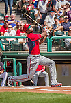 21 March 2015: Washington outfielder Michael Taylor in action during a Spring Training Split Squad game against the Atlanta Braves at Champion Stadium at the ESPN Wide World of Sports Complex in Kissimmee, Florida. The Braves defeated the Nationals 5-2 in Grapefruit League play. Mandatory Credit: Ed Wolfstein Photo *** RAW (NEF) Image File Available ***