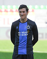 20191022 – OOSTENDE , BELGIUM : Brugge's Thomas Van Den Keybus pictured during a soccer game between Club Brugge KV and Paris Saint-Germain ( PSG )  on the third matchday of the UEFA Youth League – Champions League season 2019-2020 , thuesday  22 th October 2019 at the Versluys Arena in Oostende  , Belgium  .  PHOTO SPORTPIX.BE | DAVID CATRY