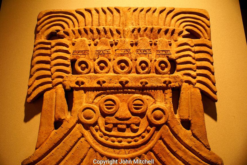 Toltec rain god Tlaloc. Museo Nacional de Antropologia, Chapultepec Park, Mexico City.