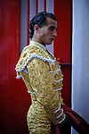 Spanish matador Ivan Fandiño gets ready before the fourth corrida of the San Fermin Festival, on July 10, 2012, in the Northern Spanish city of Pamplona. (c) Pedro ARMESTRE